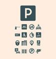 parking symbols paid money garage auto park cars vector image