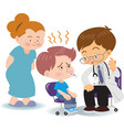 physicians children vector image