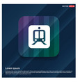 railroad track icon vector image