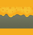 realistic cheese or curd banner melted cheddar vector image vector image
