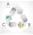 Recycle symbol made of Newspaper vector image