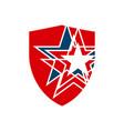 red blue american star shield logo design symbol vector image vector image
