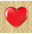 Red Heart With Cardboard Structure With Sunburst vector image vector image