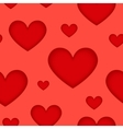 red hearts silhouettes seamless pattern vector image vector image