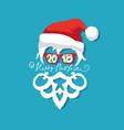 santa claus wearing sunglasses vector image vector image