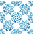 Seamless pattern background with snowflakes vector image vector image