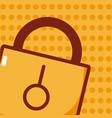 security padlock cartoon vector image