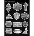 Set of Chalk Shapes Grunge Design Elements vector image vector image