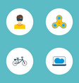 set of trend icons flat style symbols with vr vector image vector image