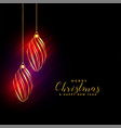 shiny golden christmas balls background vector image