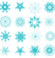 Snowflake set for winter design vector image