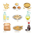 soy containing products colorful poster vector image