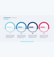 stylish infographic concept template four vector image vector image