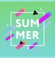 summer 3d frame gradient shape fluide memphis vector image