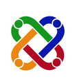 teamwork connection people business logo vector image vector image