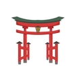 Temple Gate Japanese Culture Symbol vector image