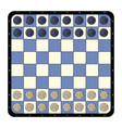 top view flat checkers chessboard vector image