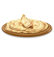 traditional pita bread vector image vector image
