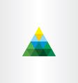 triangle landscape logo mountain sun vector image vector image