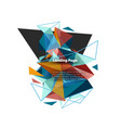 triangular design abstract background landing vector image vector image