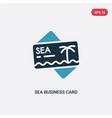 two color sea business card icon from other vector image