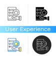 usability evaluation icon vector image vector image
