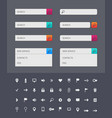 web search bar design templates on dark vector image