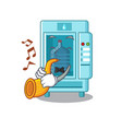 with trumpet water vending machine isolated the vector image vector image