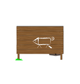wooden boards and a pig vector image