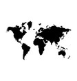 world map the black color icon vector image vector image