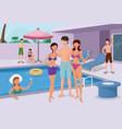 young people having a pool party vector image