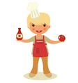 Happy cook vector image