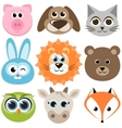 set of funny animals vector image