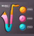 music instrument infographic template vector image