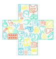 abstract concept medicine medicals icons vector image vector image