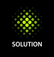 abstract dotted sphere icon solution symbol vector image vector image