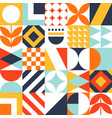 abstract seamless bauhaus pattern colorful vector image vector image