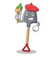 artist shovel character cartoon style vector image