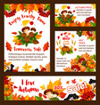 autumn sale web banners and posters vector image vector image