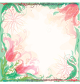 Background with decorative tulips vector image vector image