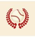 baseball ball wreath vector image vector image