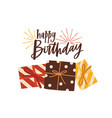 birthday greeting card or postcard template with vector image
