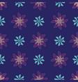 blooming geometric flowers on dark blue vector image vector image