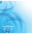 Blue water with bubbles background vector image
