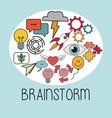 brainstorm thinking idea strategy image vector image vector image