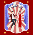 carnival festive flat poster vector image vector image