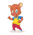 cartoon bear dancing vector image vector image
