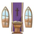 Catholic altar and windows interior of Church vector image