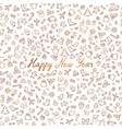christmas icon pattern happy winter holiday card vector image vector image