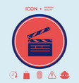 clapperboard icon vector image vector image